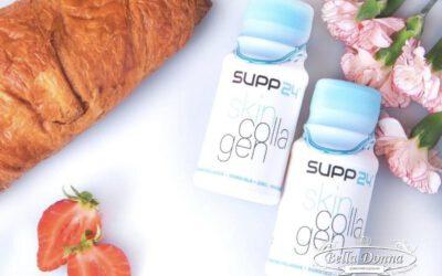Supp24 is een flesje boordevol collageen, vitaminen en mineralen.